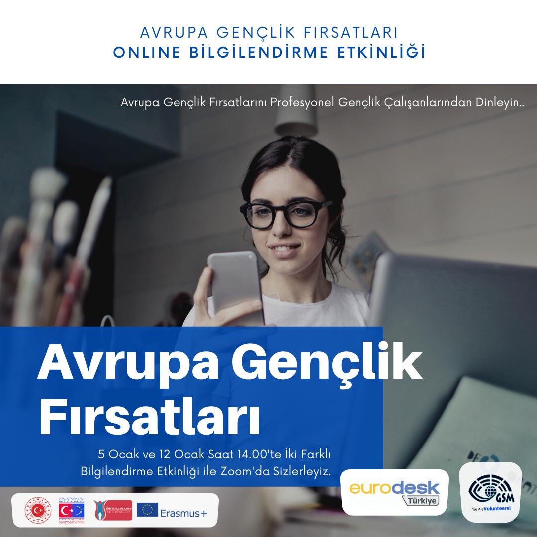 Avrupa Gençlik Fırsatları Bilgilendirme Etkinliği (Online)