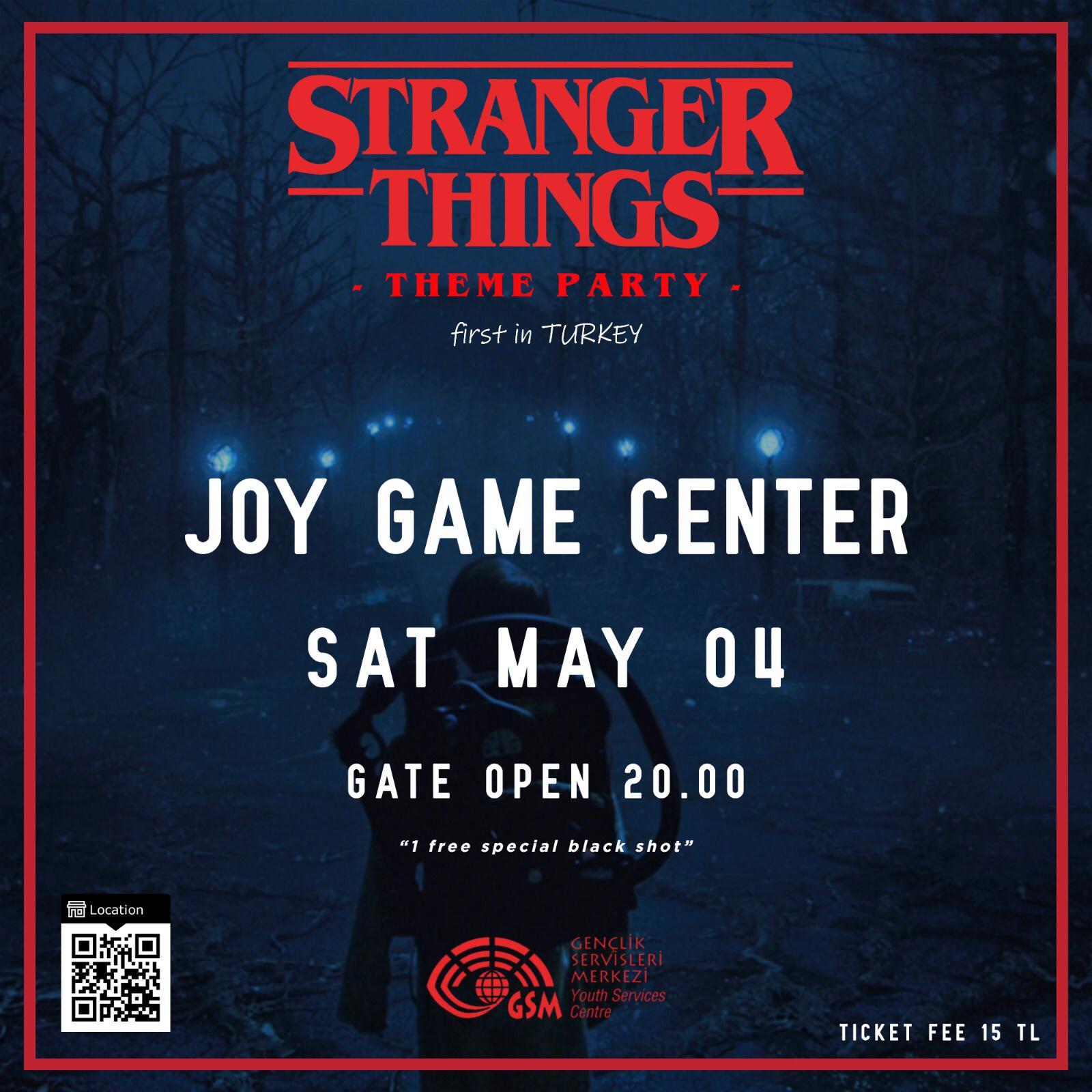 STRANGER THINGS THEME PARTY  BY GSM